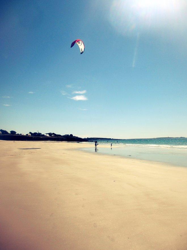 Kitesurfing in Brittany