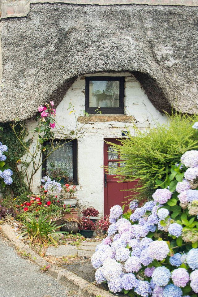 Thatched house in Brittany