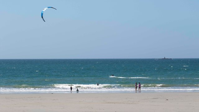 Kite surfer in Brittany