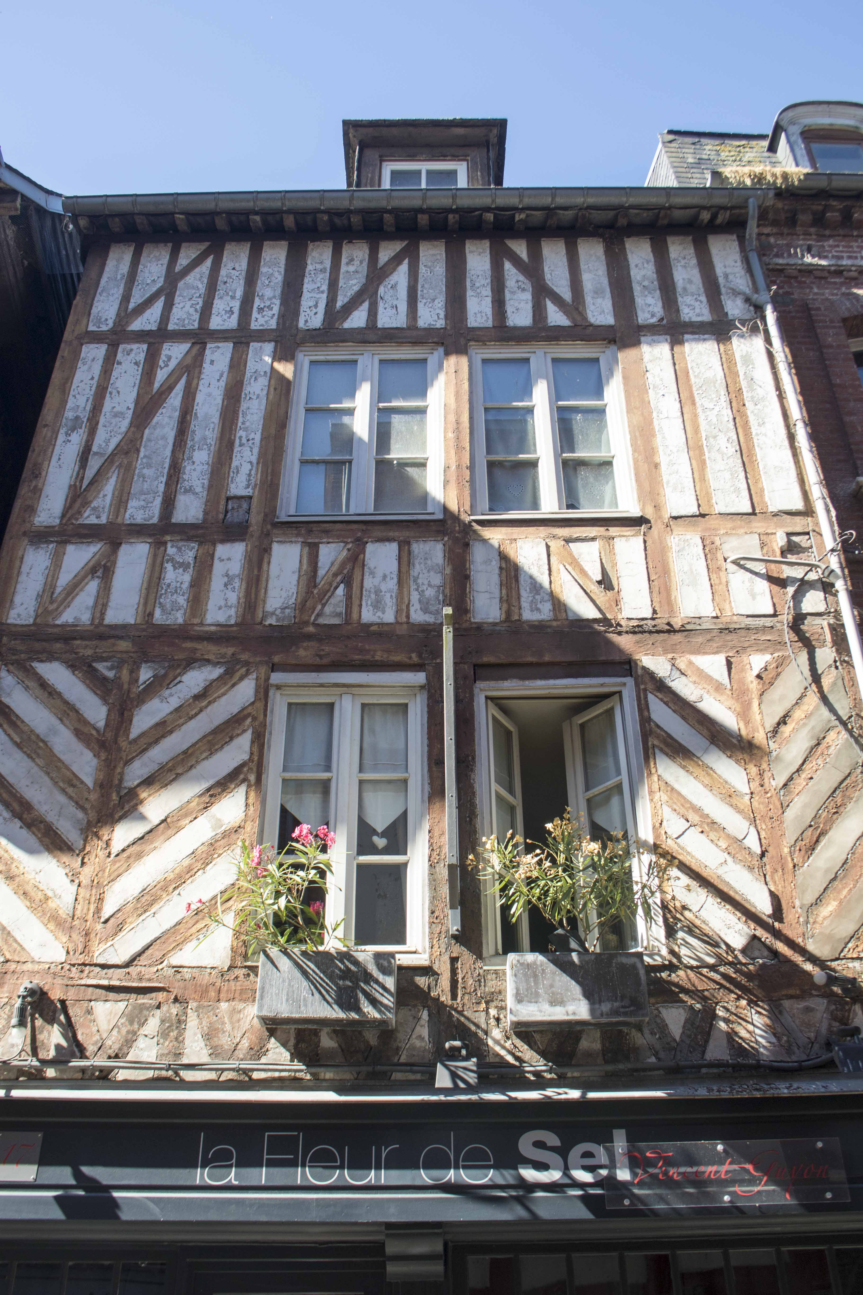 Beautiful Normand building in Honfleur