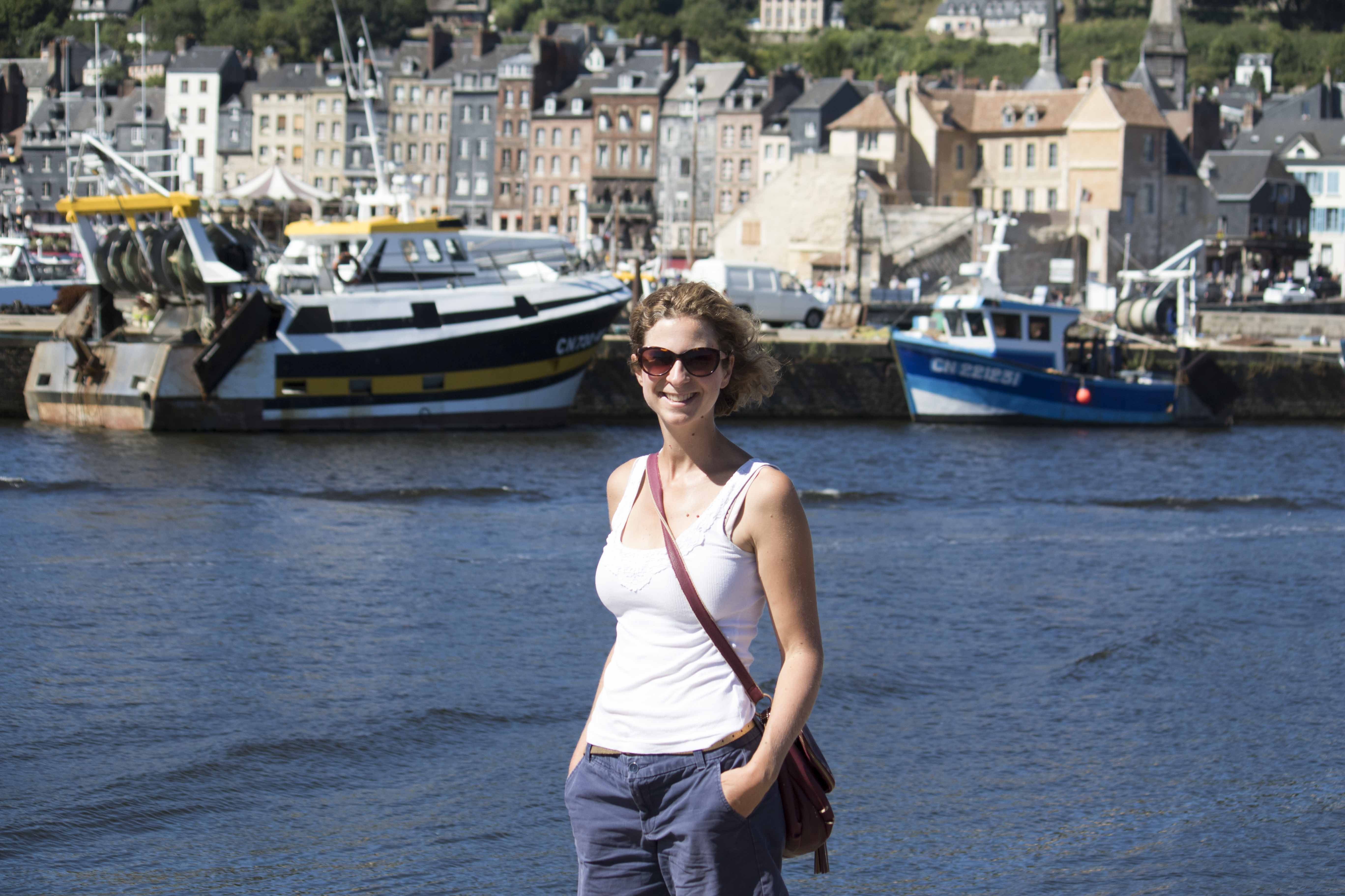 Soaking up the sun in Honfleur