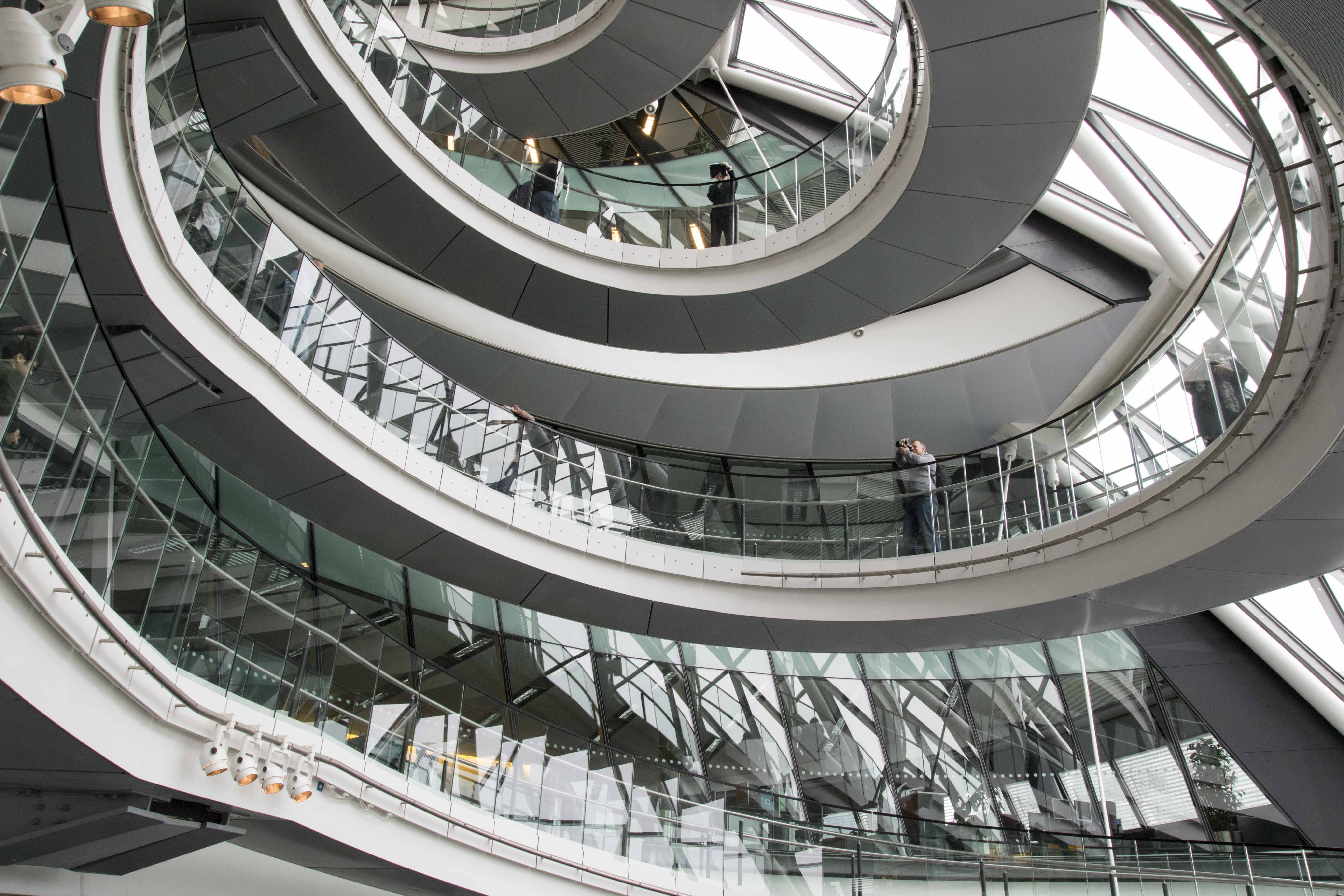 Stunning staircase at London City Hall