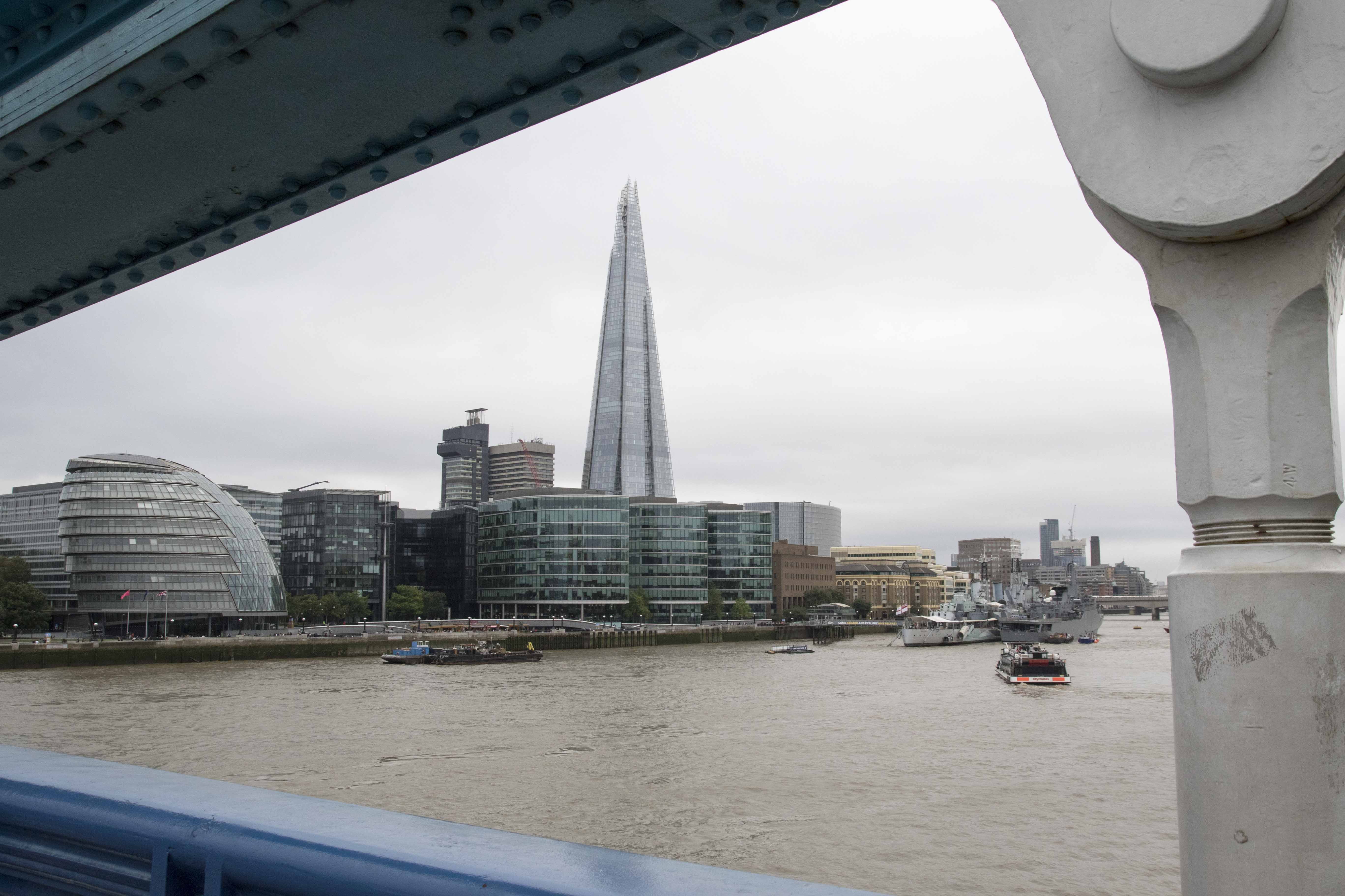 Views of the Shard from Tower Bridge