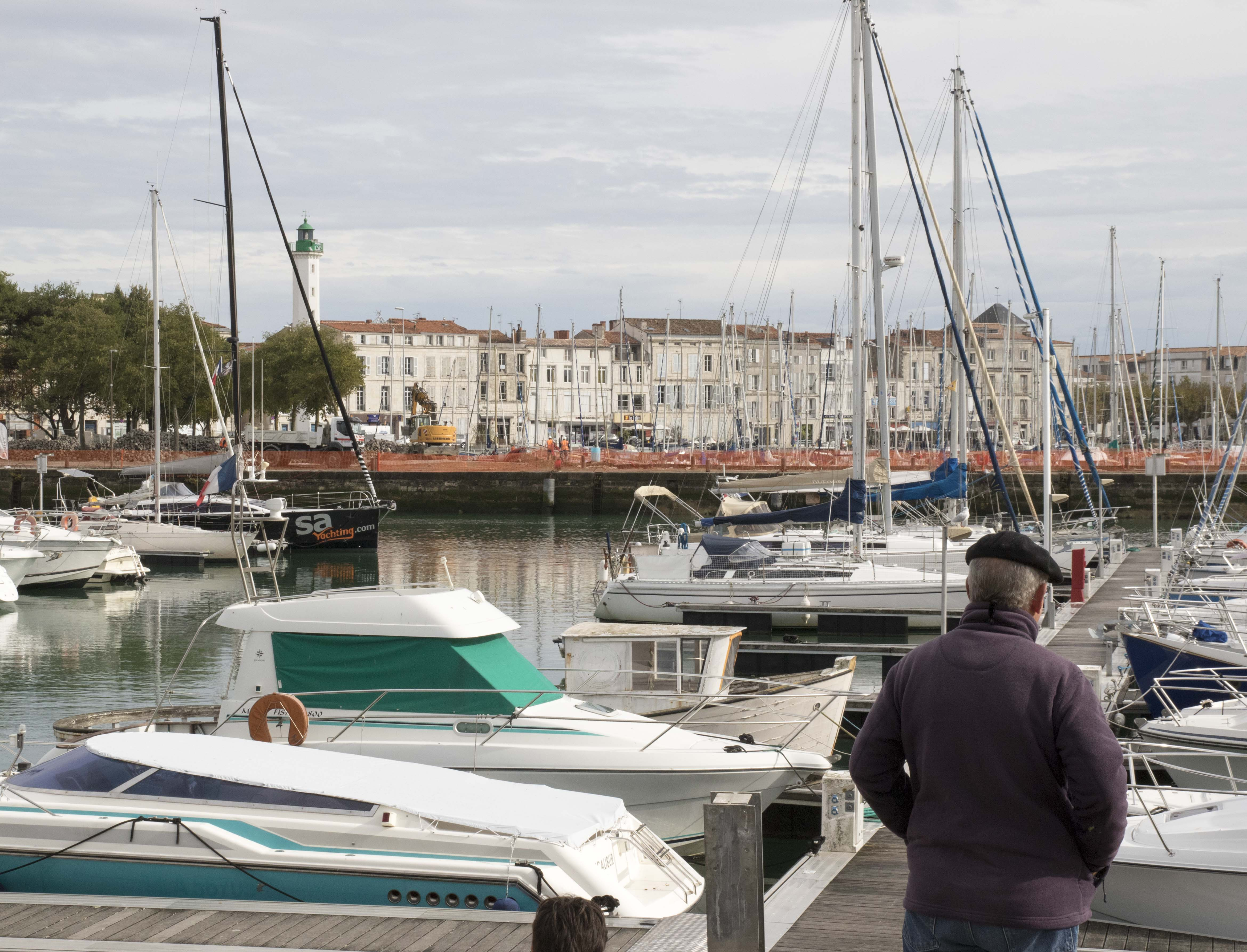 View of the La Rochelle harbour and lighthouse